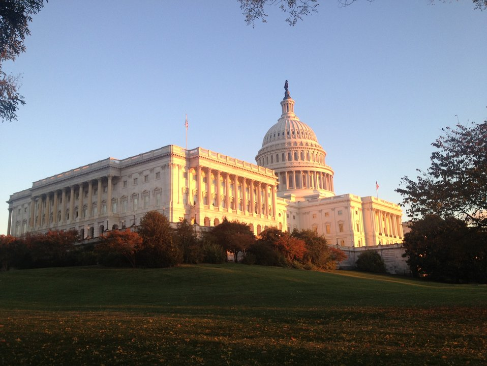 Golden November Sunset on the Capitol