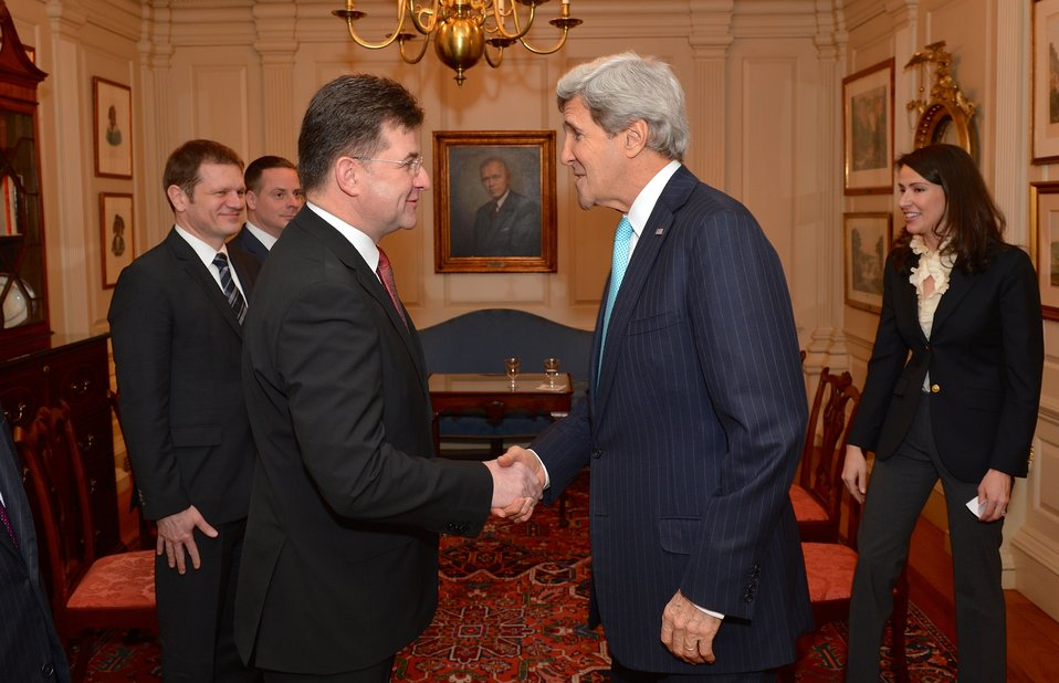 Secretary Kerry Greets Slovak Deputy Prime Minister and Foreign Minister Lajcak