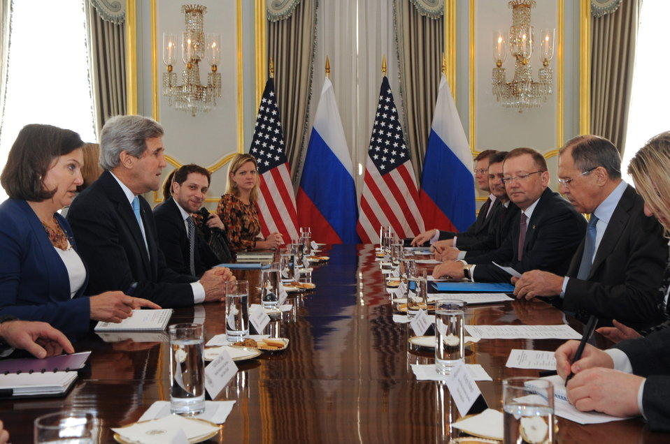 Secretary Kerry Holds Bilateral Meeting With Russian Foreign Minister Lavrov