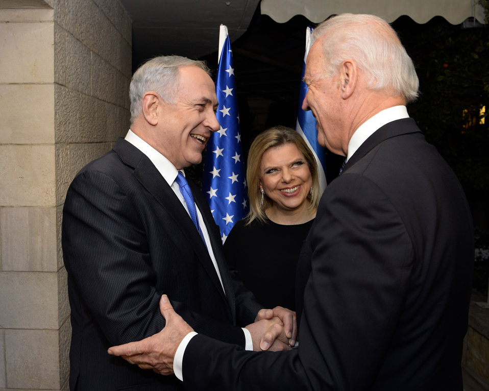 Vice President Biden is Greeted by Israeli Prime Minister Netanyahu