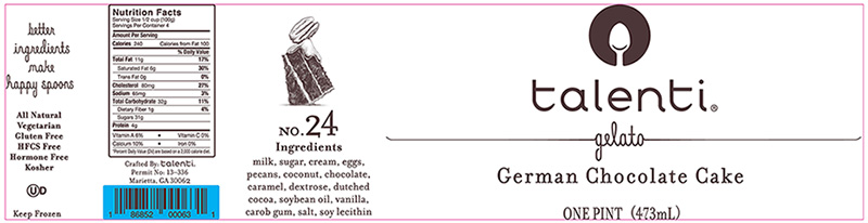 RECALLED – Talenti German Chocolate Cake Gelato