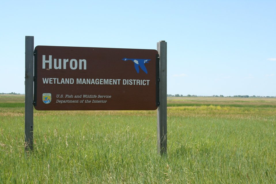 Huron Wetland Managment District Sign