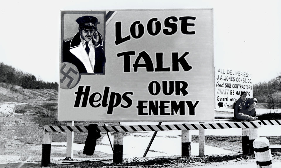Billboard Oak Ridge During World War II
