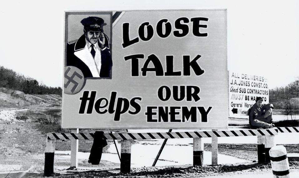 Billboard Oak Ridge During World War II