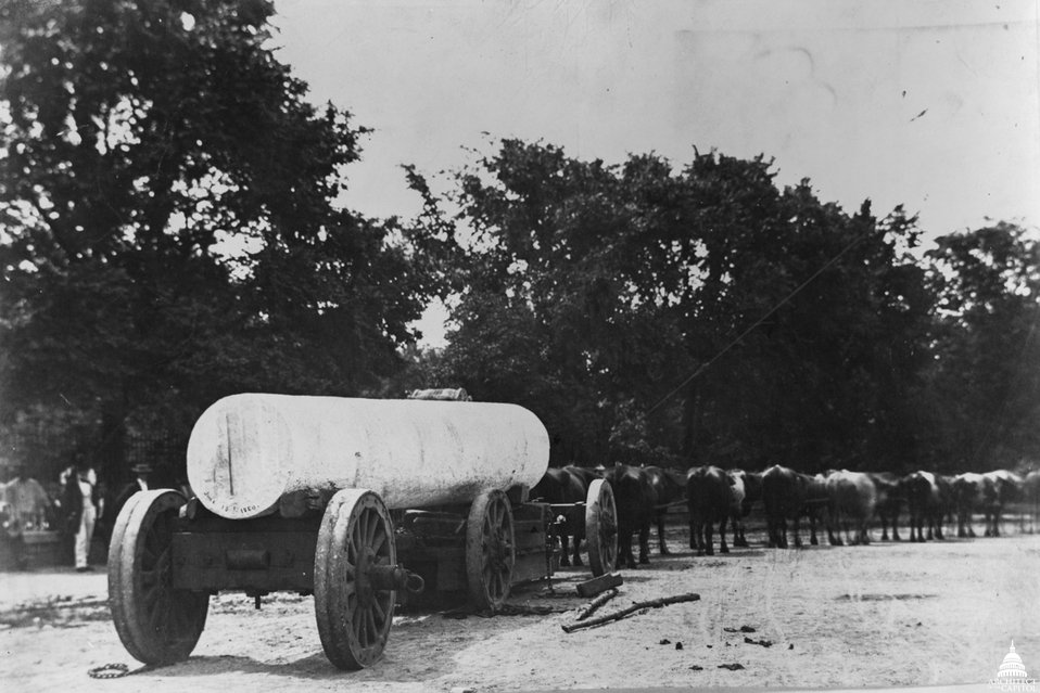 Marble Column Delivery c.1860