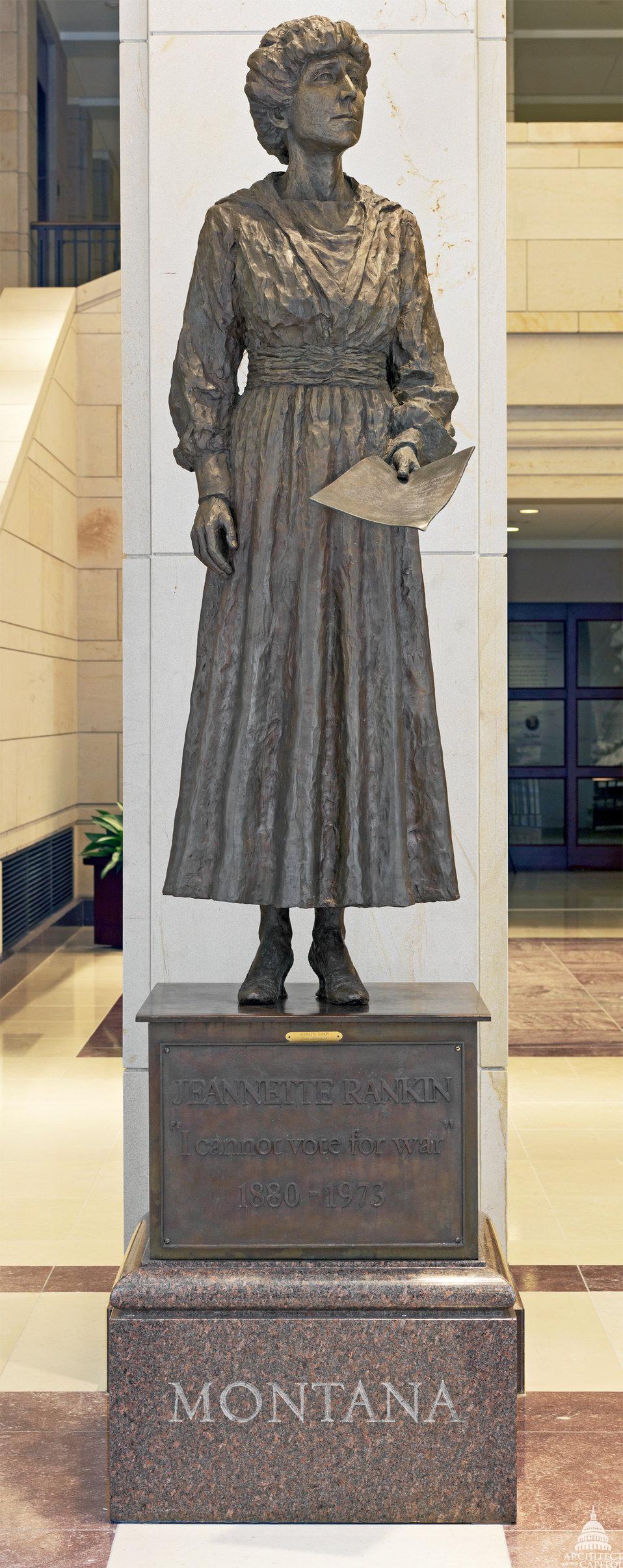 Jeannette Rankin Statue