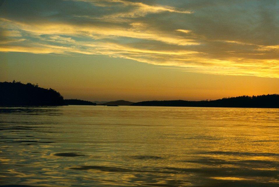 San Juan Islands sunset.