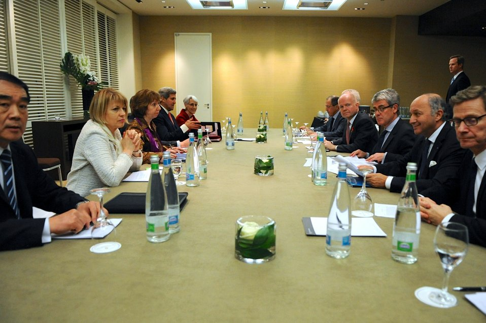 Secretary Kerry and Fellow P5 1 Members Discuss Iran in Geneva