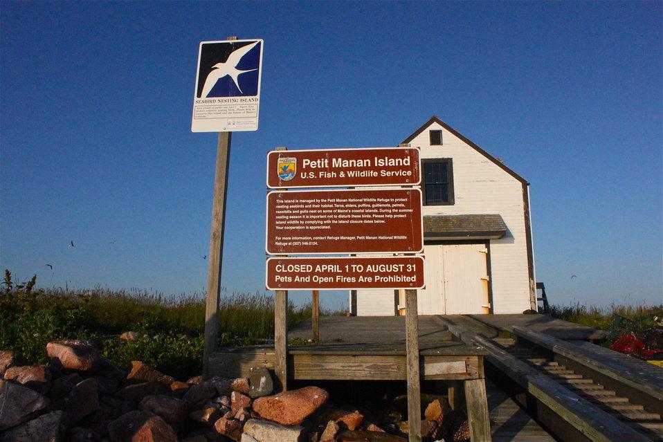 Petit Manan Island Signs