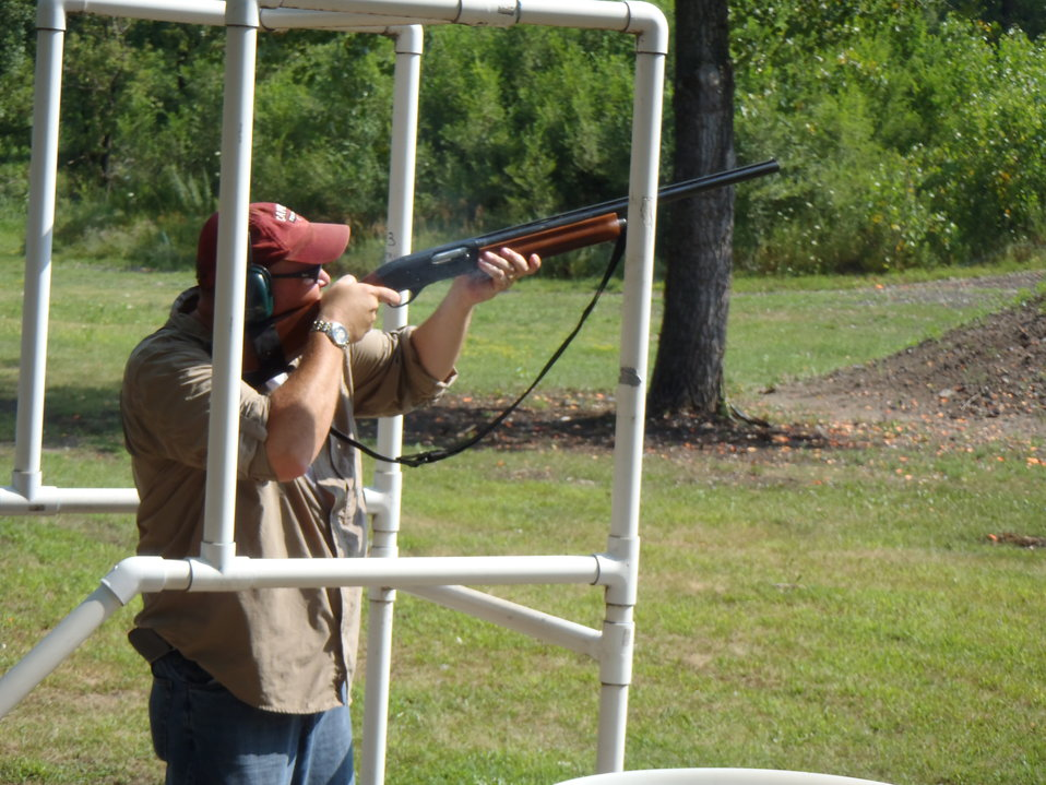 Chuck Traxler takes aim. Service photo.