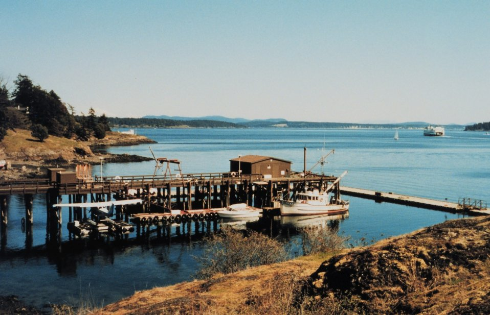 Friday Harbor area on the east side of San Juan Island