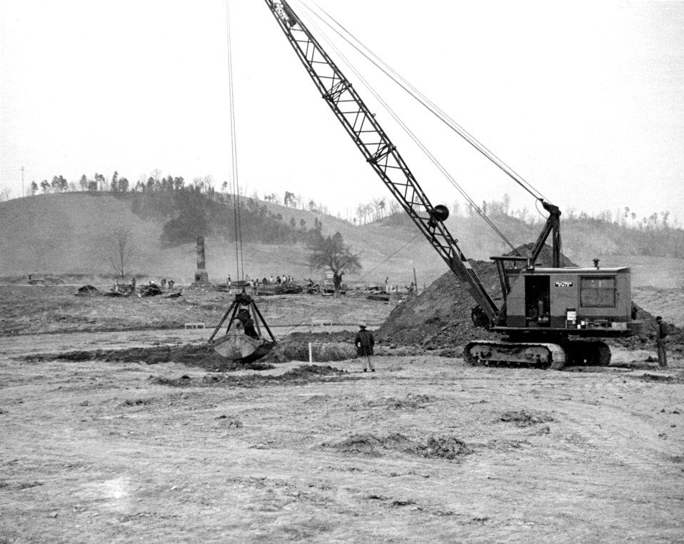 Land Clearing and Foundation Constrruction Y-12 Plant Oak Ridge 1943
