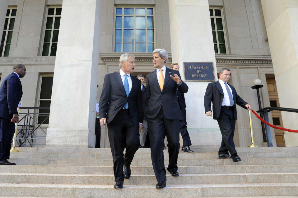 Secretaries Kerry, Hagel Speak After Pentagon Meeting