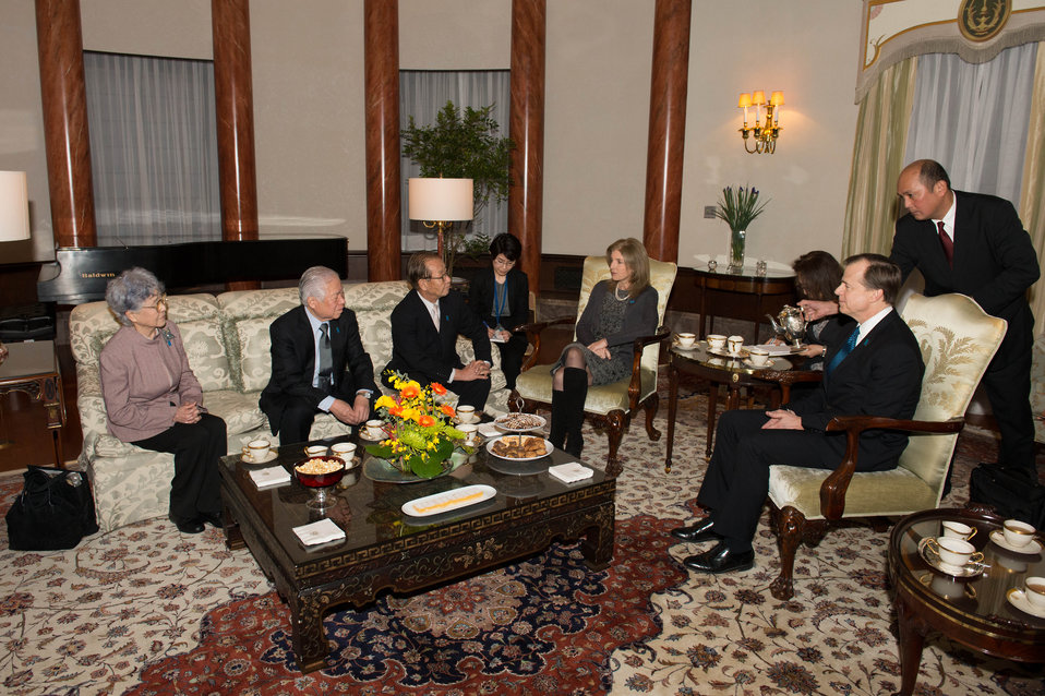 Ambassador Kennedy and Special Representative Davies Meet Abductee Families