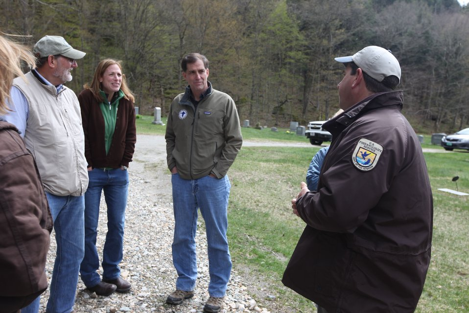 Dan Ashe hears about the work of the Partners program in Vermont