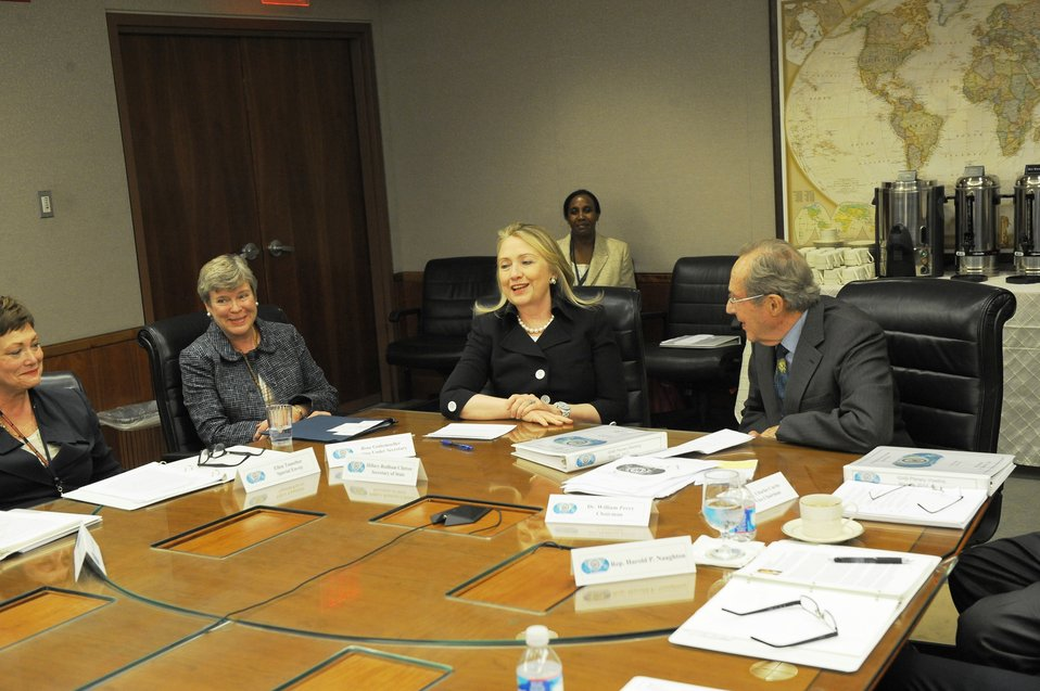 Secretaries Clinton and Perry Participate in the ISAB Meeting