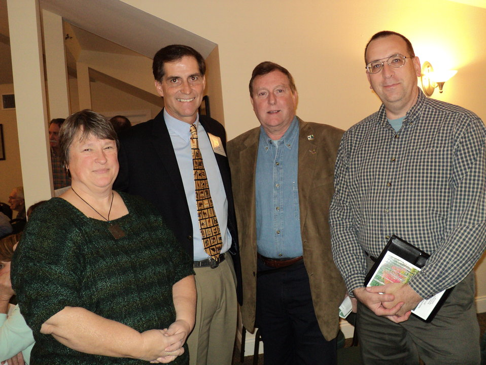 Director Ashe with Friends of Assabet River President Betsy Griffin, Dave Griffin, and Dave Williams