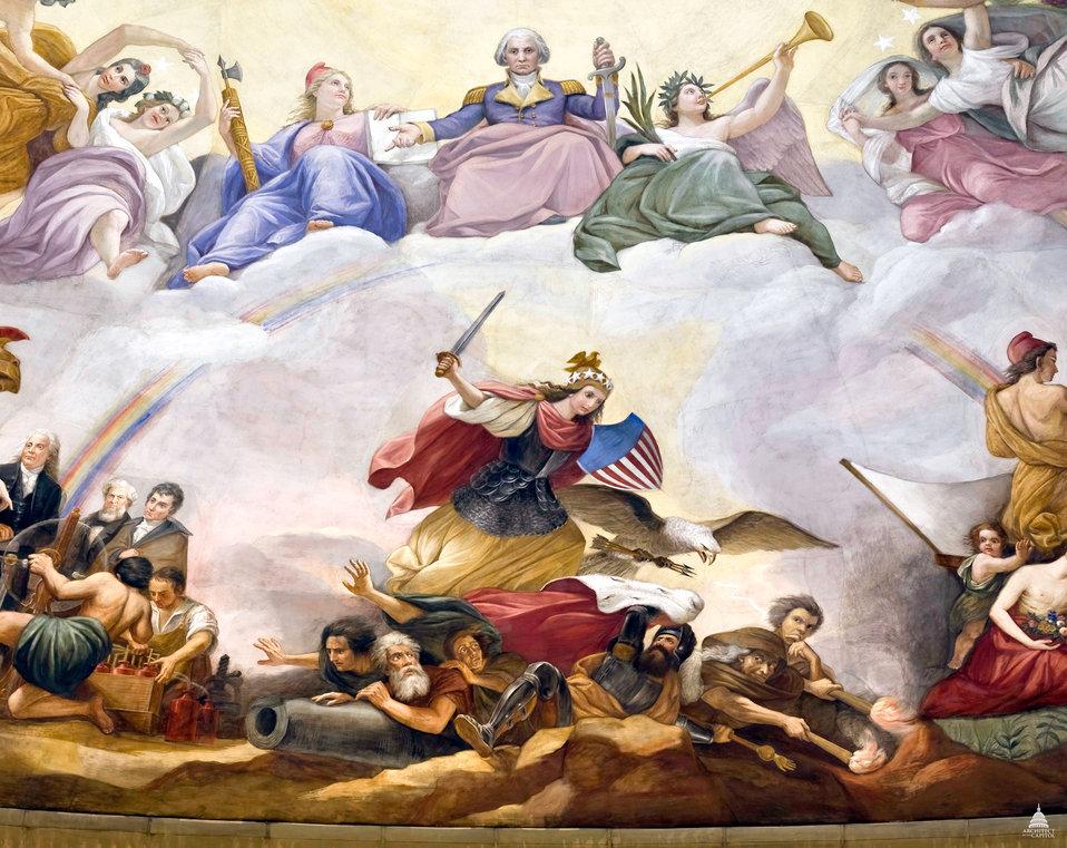 Apotheosis of Washington: War