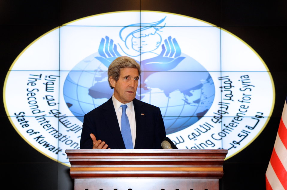 Secretary Kerry Discusses Syrian Aid Situation at End of Donors' Conference