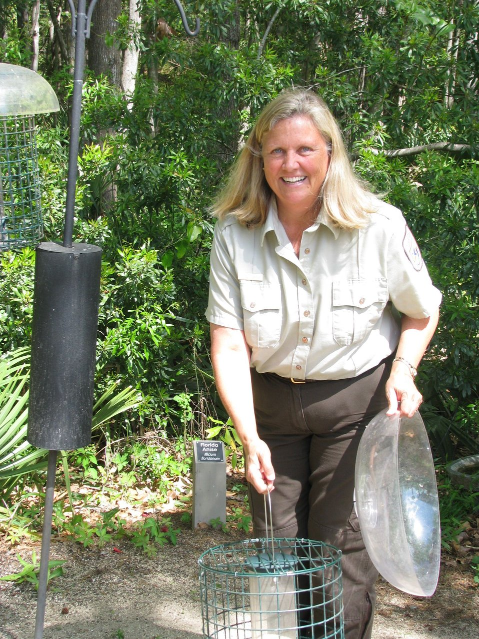 Jane Griess at Savannah Wildlife Refuge, 2