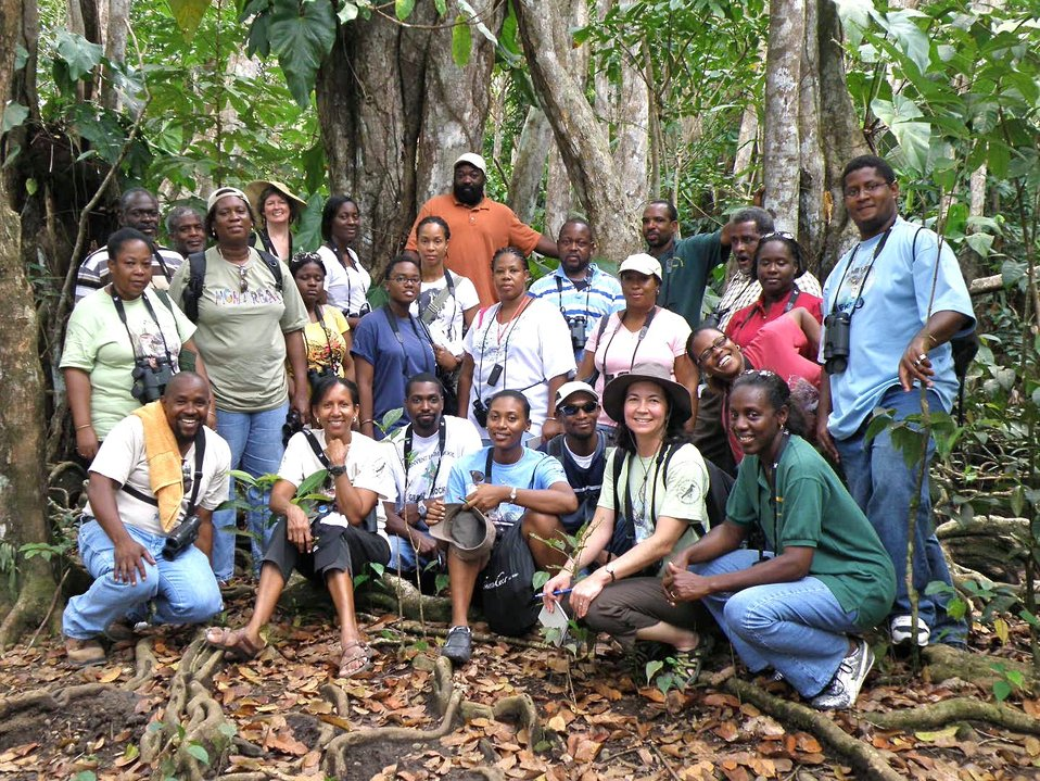 Group photo - secondary teachers in Pterocarpus Swamp