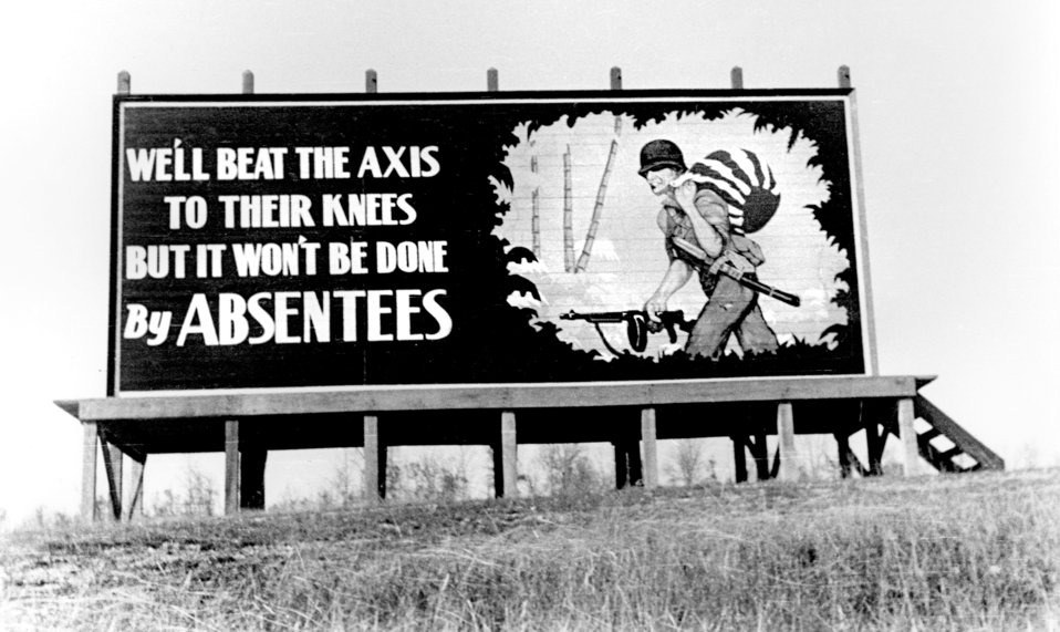 Billboard Throughout Oak Ridge 1943