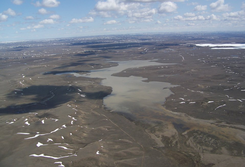Aerial of Hewitt Lake NWR