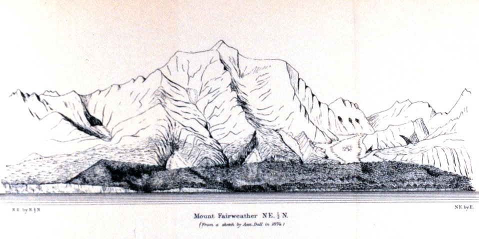 Mt. Fairweather.  In: Pacific Coast Pilot Alaska Part I 1883.  P. 202.  Library call number VK943 .N3 1883.