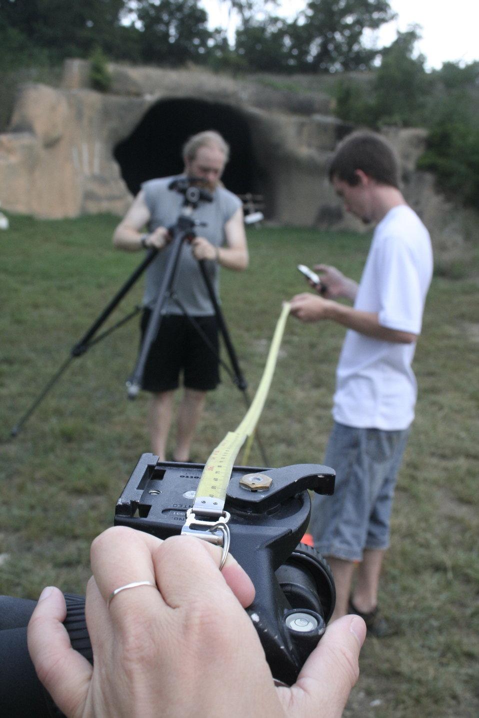 Setting cameras