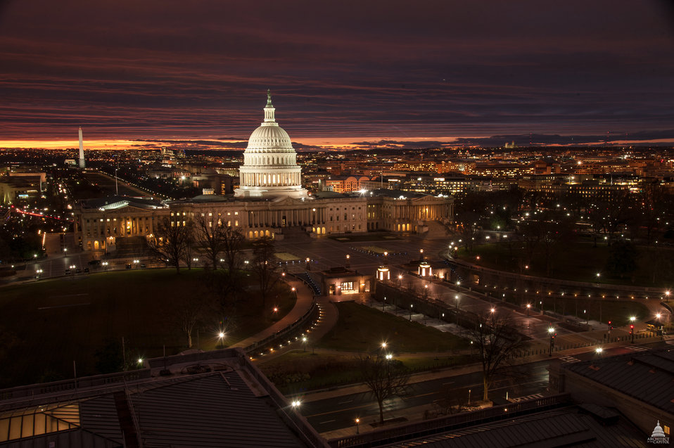 View of Capitol from the Library of Congress