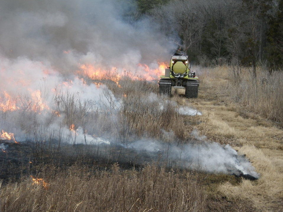 Specialized equipment helps do controlled burn