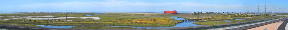 Panoramic of the Sweetwater Marsh Unit of the San Diego Bay NWR