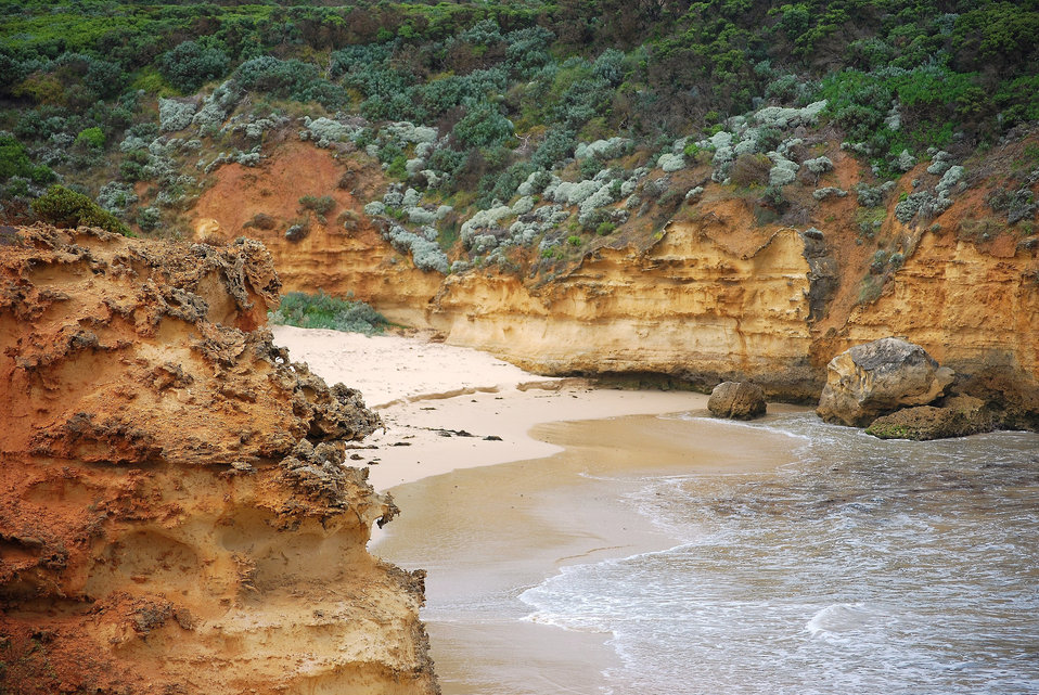 Secluded beach australia