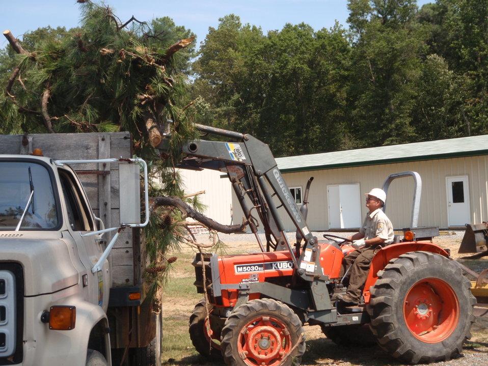 Harrison Lake Hurricane Irene preparedness.