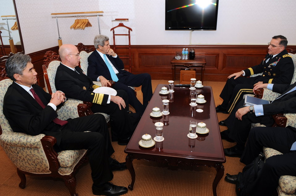 Secretary Kerry Meets With U.S. Forces Korea Commander Scaparrotti in Seoul, South Korea