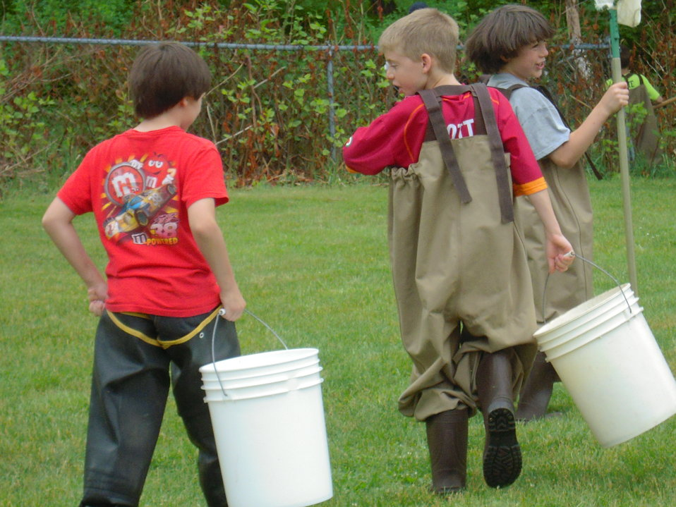 Carrying collection buckets for findings