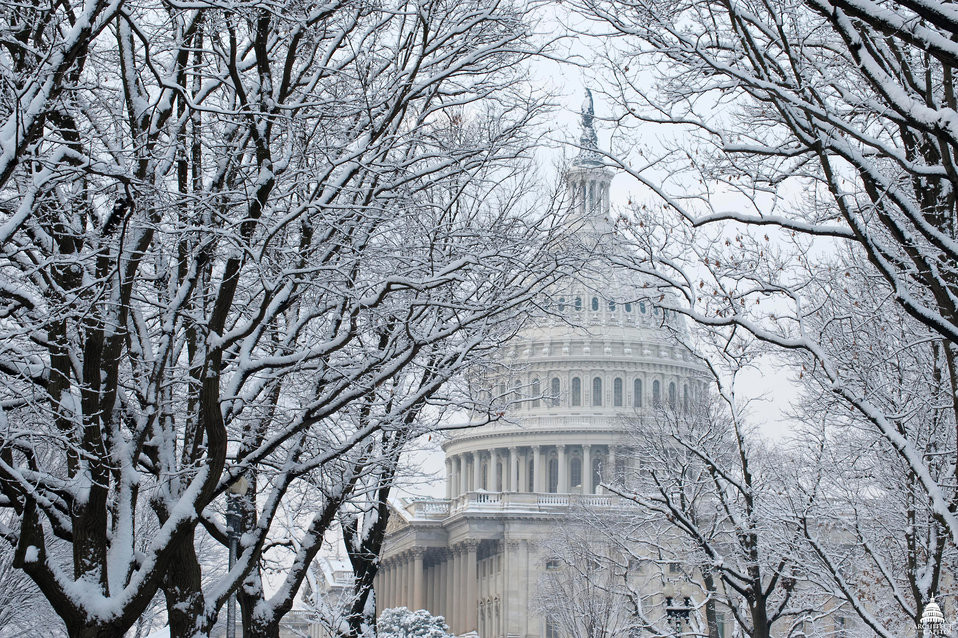 U.S. Capitol Dome in Snow