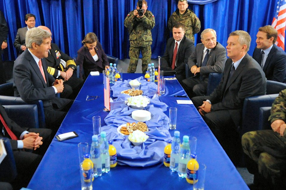 Secretary Kerry Holds a Bilateral Meeting With Polish Defense Minister Siemoniak