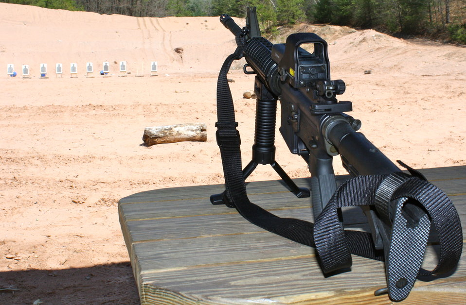 AR-15 on Stand