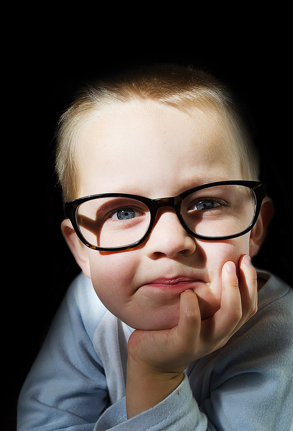 Child and optical glasses