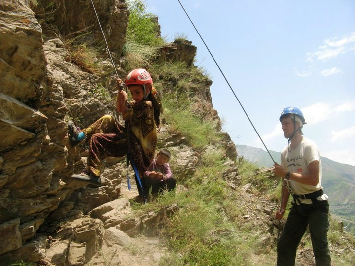 Tajik Youth Rock Climb