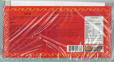 RECALLED - Farmer Brand Dried Lily