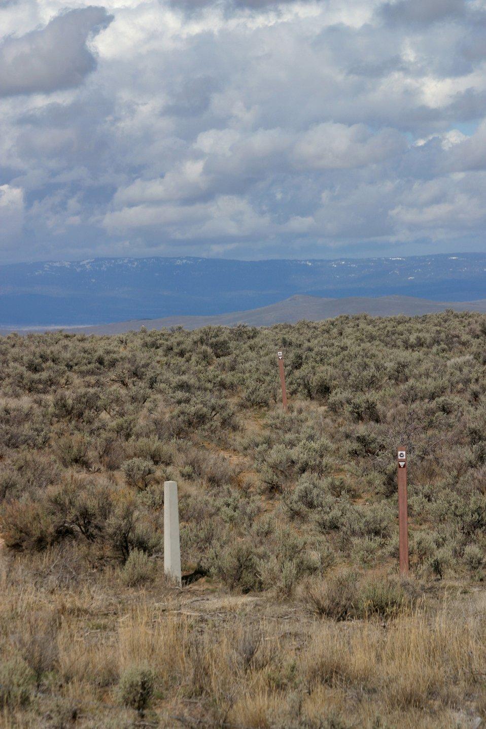 Oregon Trail ruts below the National Historic Oregon Trail Interpretive Center.