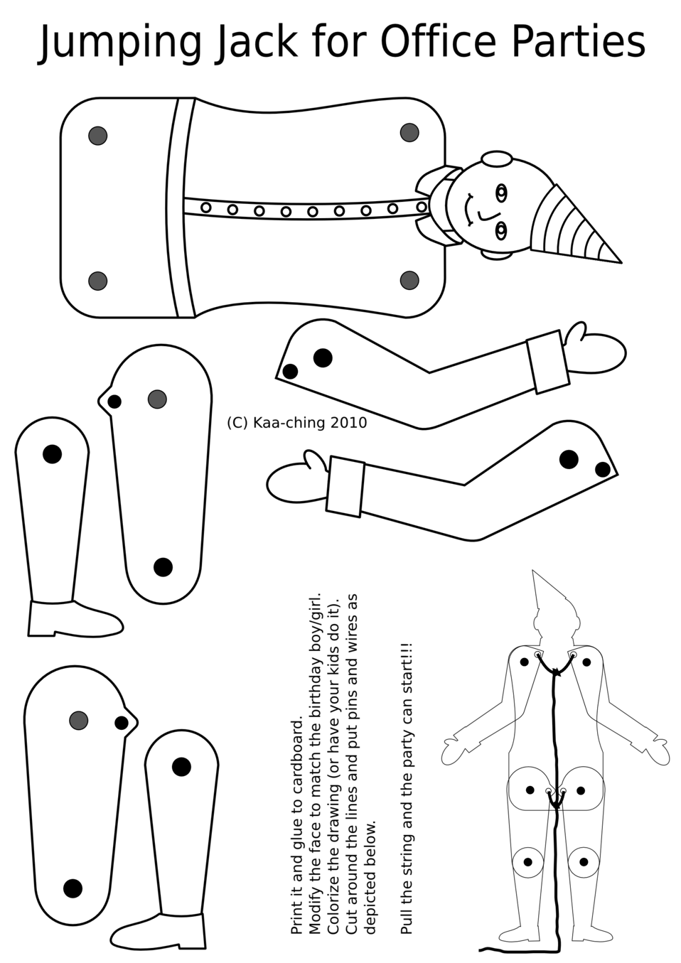 Jumping Jack coloring page