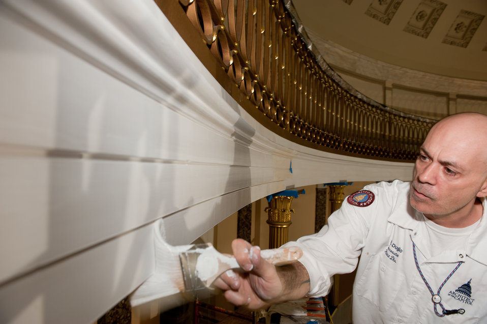 Decorative Painters in the Old Senate Chamber