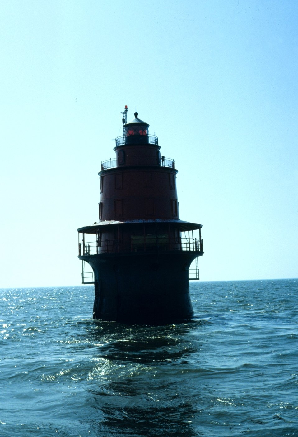 Miah Maull Lighthouse in central Delaware Bay.