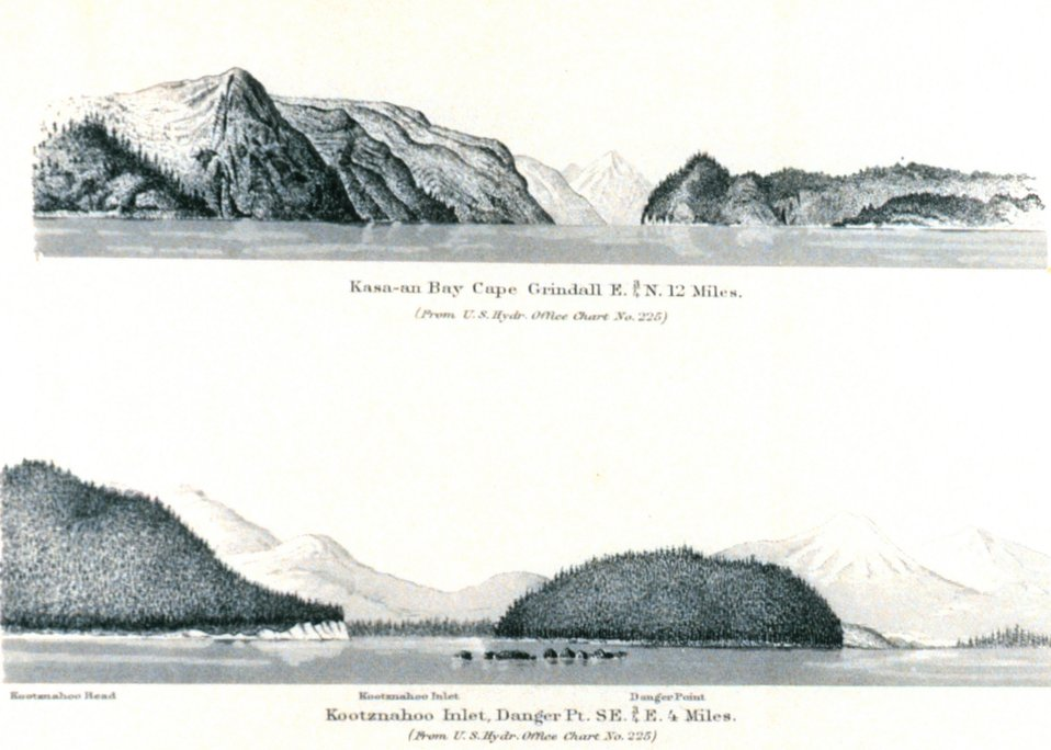Kasa-an Bay.  Kootnahoo Inlet.  In: Pacific Coast Pilot Alaska Part I 1883.  P. 166.  Library call number VK943 .N3 1883.