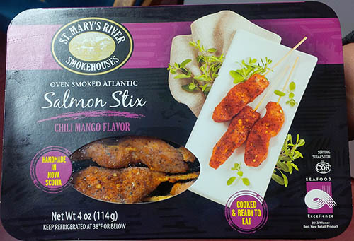 RECALLED – Oven Smoked Atlantic Salmon Stix, Chili Mango Flavor