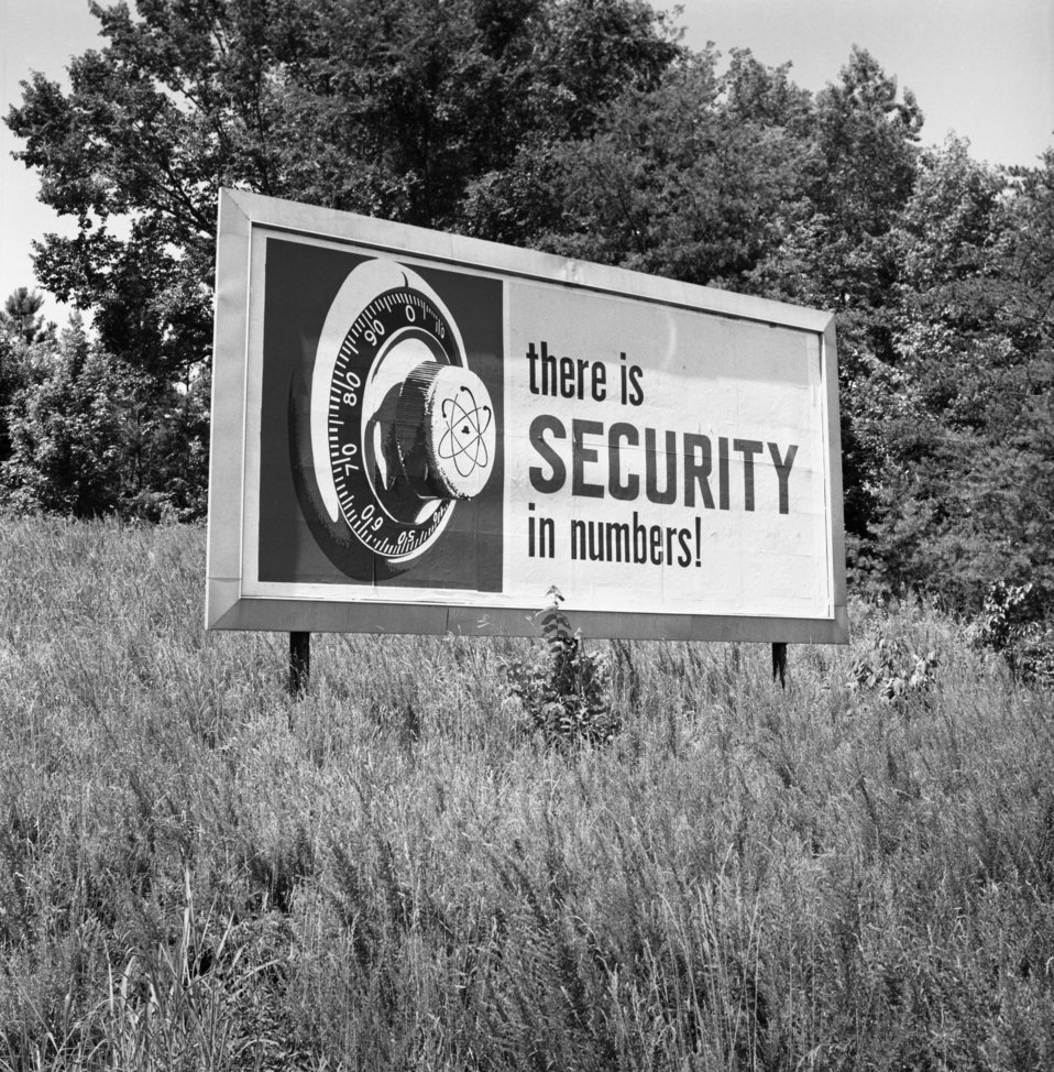 Security Billboard Oak Ridge 1967