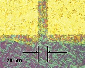 FET structures; optical micrographs